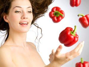 Болгарский перец в косметологии