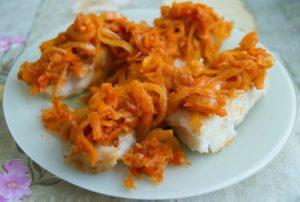 Под маринадом из лука и моркови