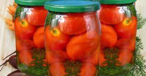 Помидоры с морковной ботвой на зиму пошаговый рецепт